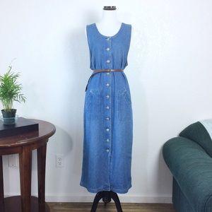 Tapemeasure • button down denim maxi dress